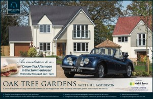 BCH Oak Tree Gardens Cream Tea Invite PR